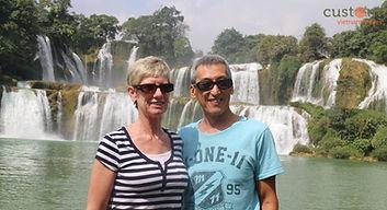 At Ban Gioc Waterfalls
