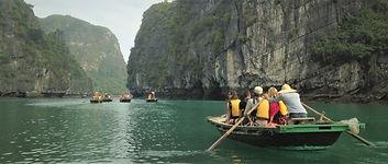 Sampan Boat Ride in Halong