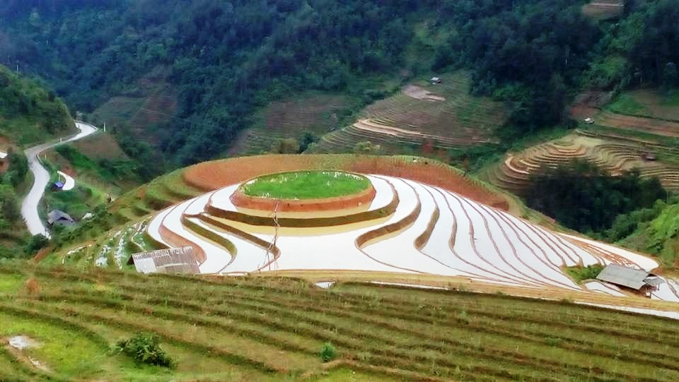 The Round Field in Mu Cang Chai