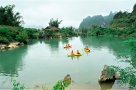 cao bang kayaking The hidden places in Northern Vietnam