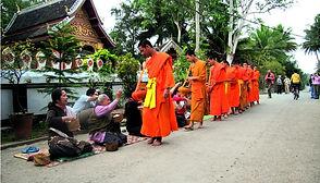 Alm Giving in Luang Prabang