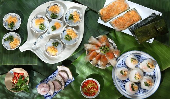 Hue Beo cake, filter cake, less ram Vietnamese Food