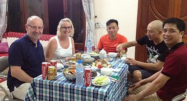 home hosted dinner