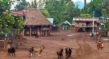 katu village in pakse