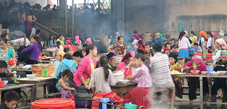 A hill tribe market