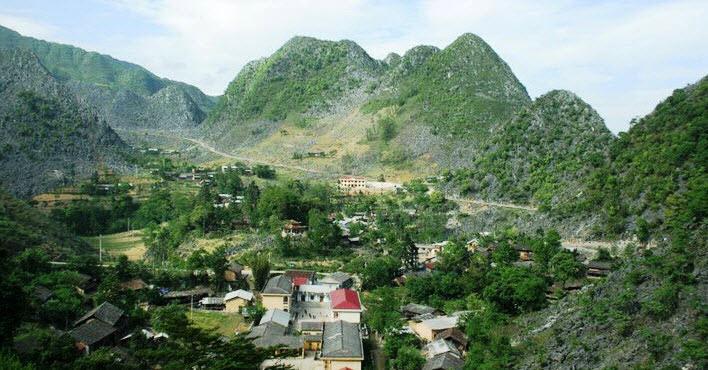 A village in Dong Van Geo-park