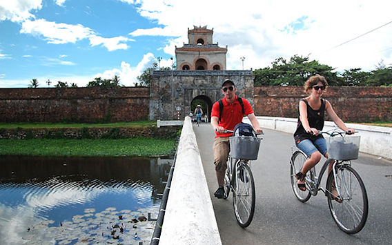 hue biking-to-three-tombs-racking ideas for Christmas days out in Vietnam