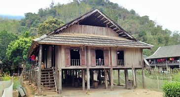 Thai people stilt house