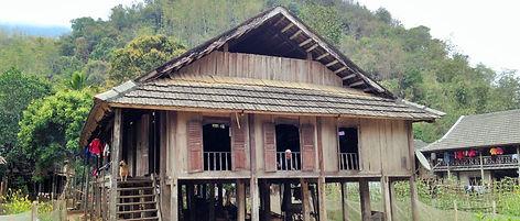 Thai people stilt house