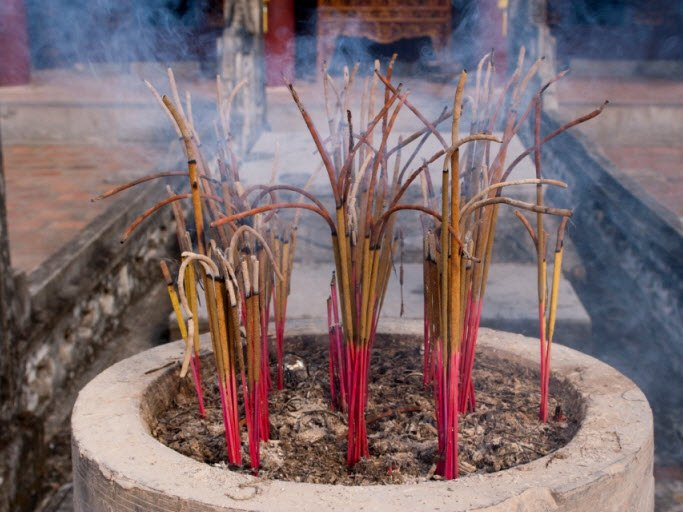 Incense Burning in the temple