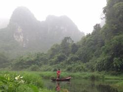 Boat in Thung Nang