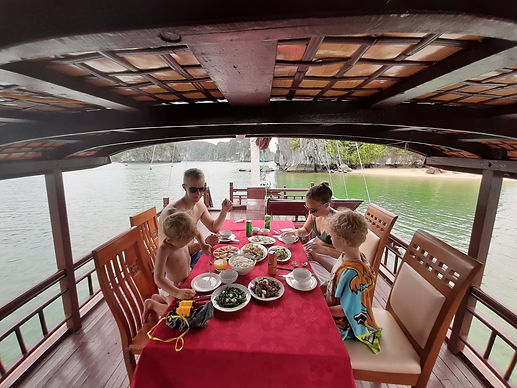 Dinning on the top deck