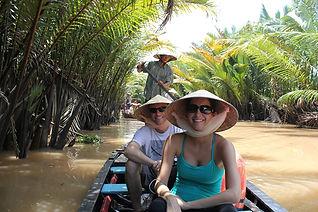 Sampan boat ride in Mekong