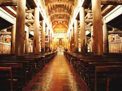 Inside Phat Diem Cathedral