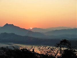 Sunset over Luang Prabang from Phousi Mt