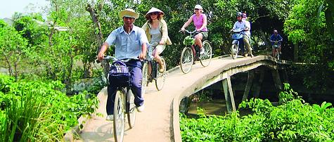 Mekong bicycling