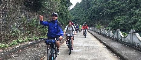 Biking to Ct Ba National Park