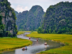 Mountain, Water, and Rice in Tam Coc