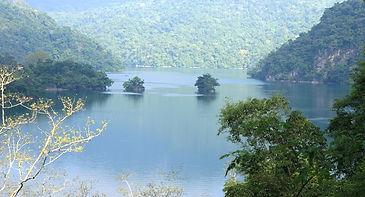 Panorama view of Ba Be Lake