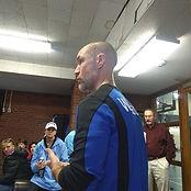 Club director Letourneau addressing the