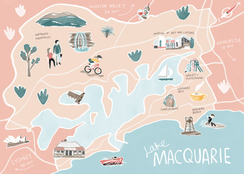 Lake Macquarie Map
