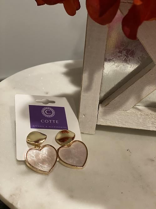Gold/Pink Heart