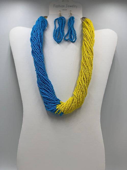 Turquoise/Yellow  Baeds
