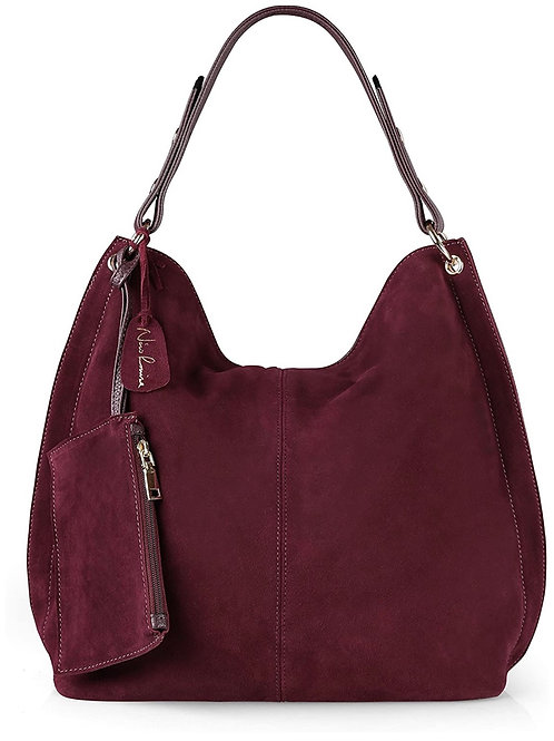 Burgundy Suede Shoulder