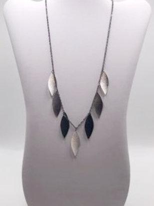Silver & Black Leaf