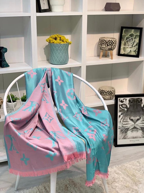 Pink/ Turquoise LV Scarf