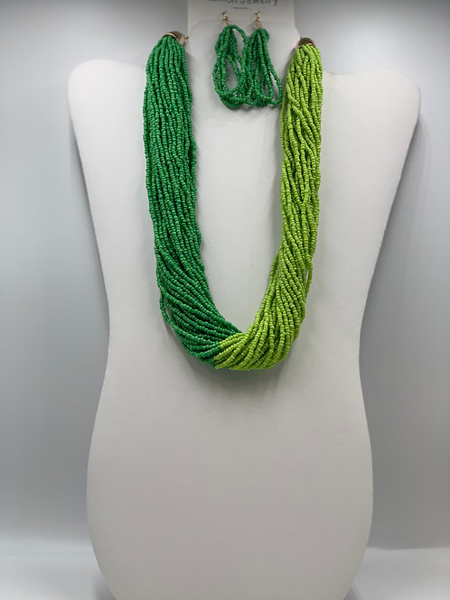 Green/Lime Green Beads