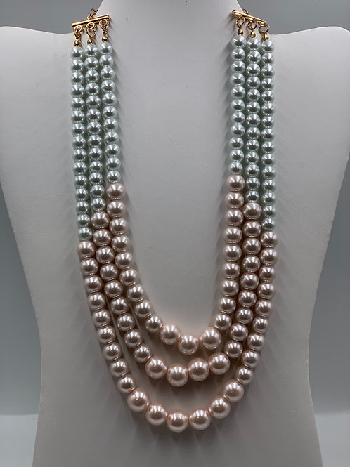 Multi Color Three Strand Pearl