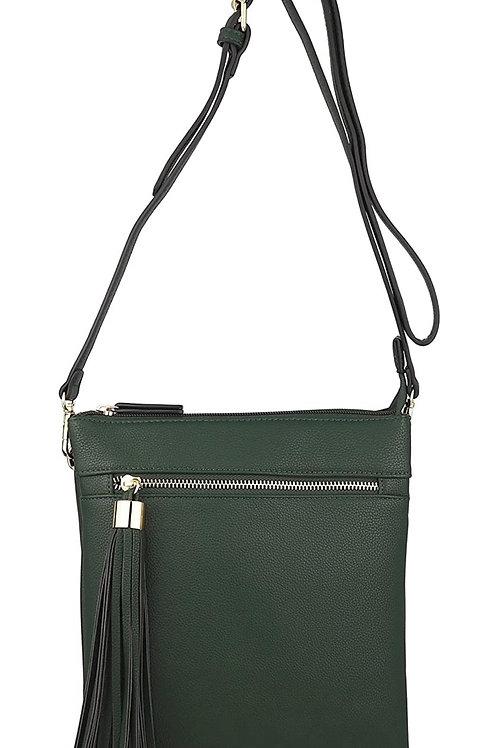 Green Leather Crossbody