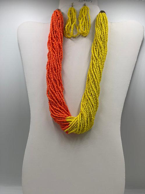 Orange/ Yellow Beads