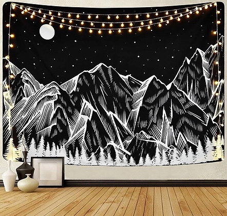 Moon & Mountain Tapestry