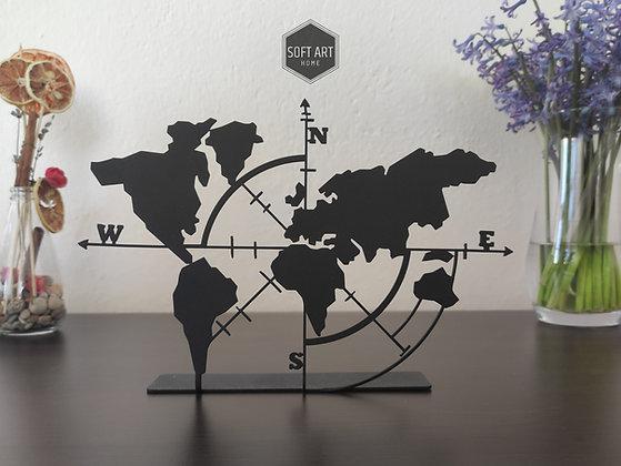Dünya Haritası Masa Dekoru