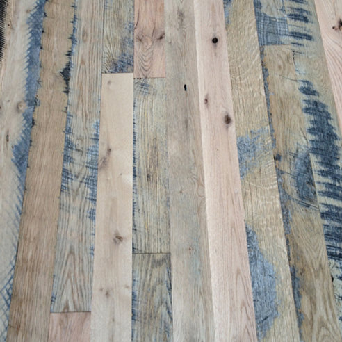 Reclaimed Oak Flooring Unfinished Skip Sawn