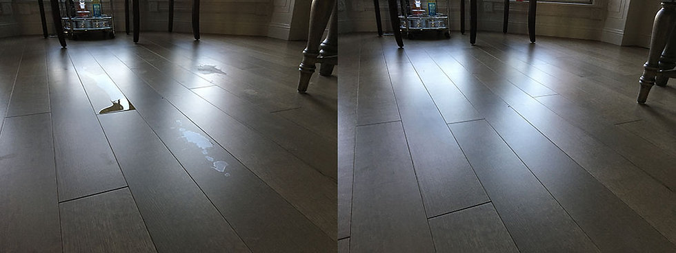 Pet urine resistant hardwood floor finish