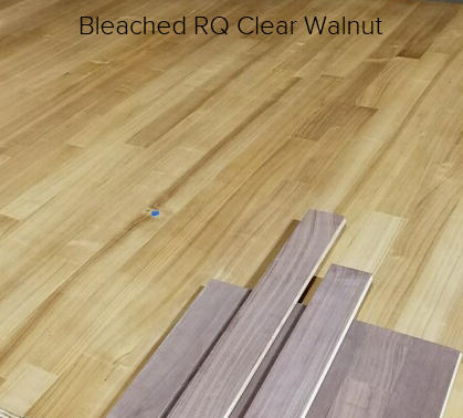 """Jobsite Finished 4"""" Engineered RQ Walnut, Clear Grade, Bleached"""