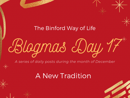 Blogmas Day 17 : A New Tradition