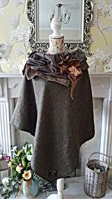 one-off handmade Tweed ponchos