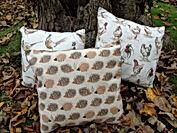 Handmade fabric cushions