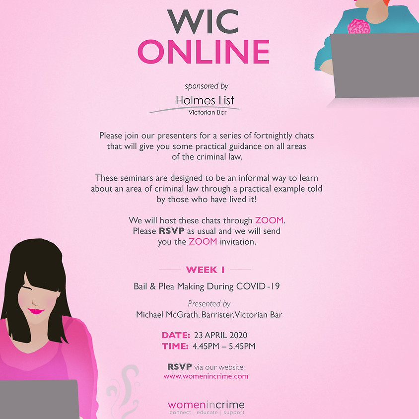 WIC Online - Bail & Plea Making During COVID-19