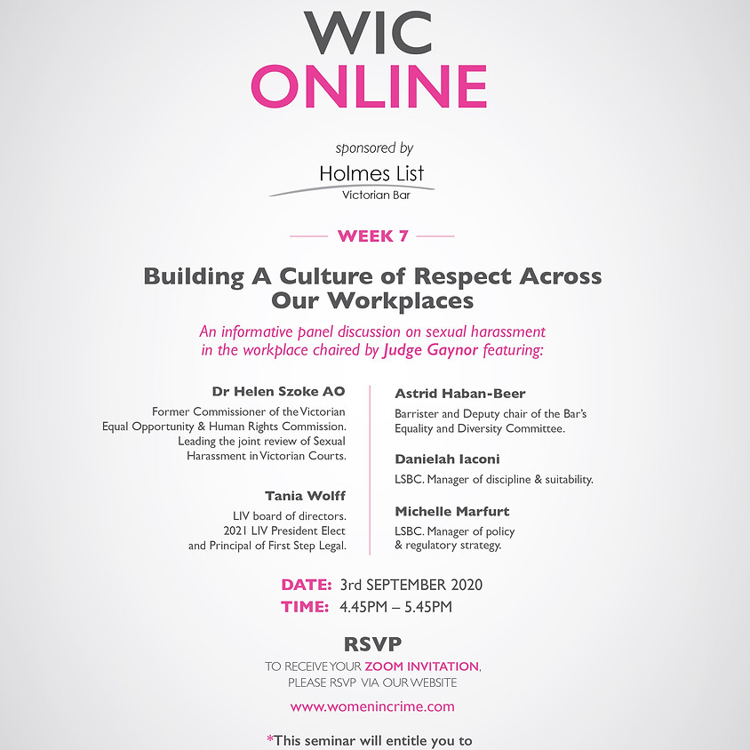 WIC Online - Building a Culture of Respect Across Our Workplaces