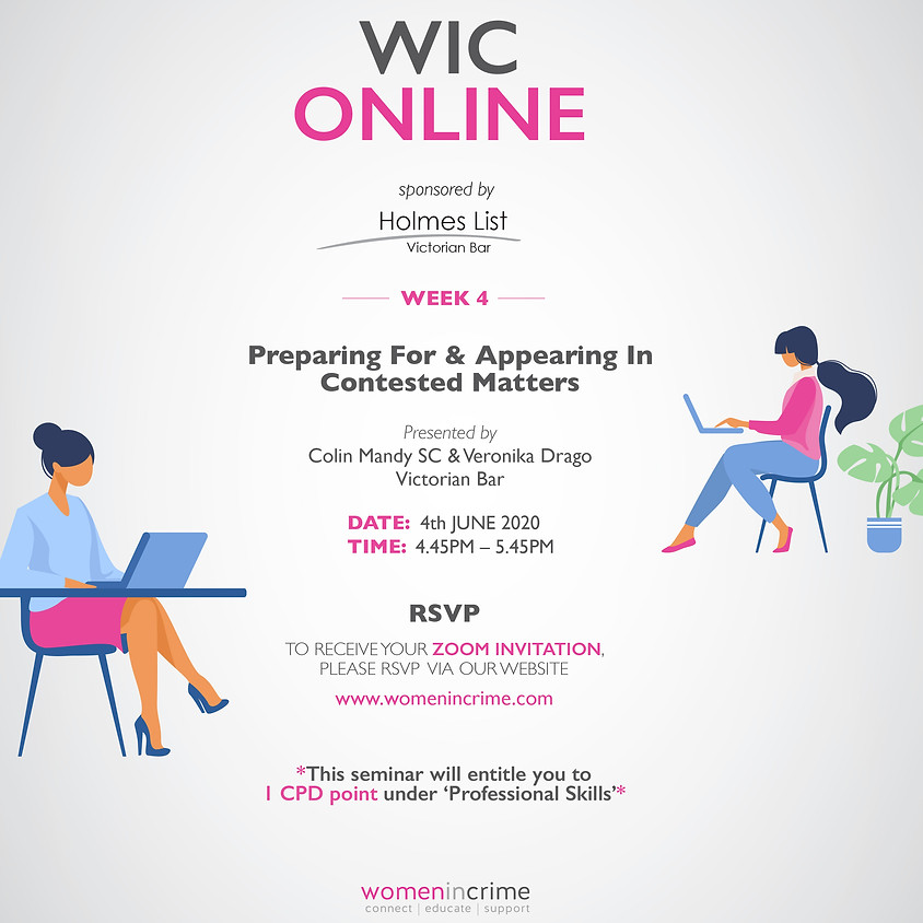 WIC Online - Preparing For & Appearing in Contested Matters