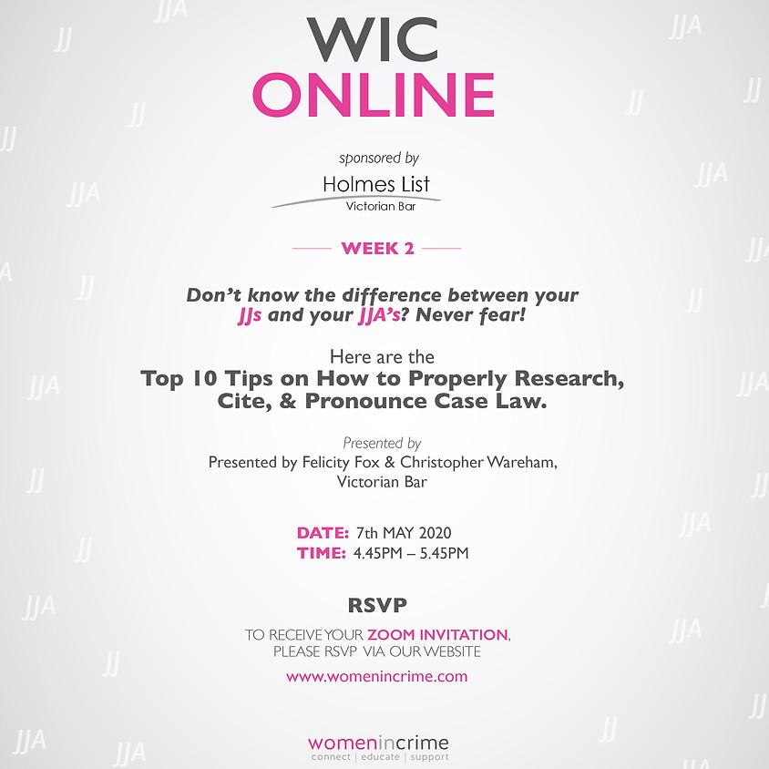 WIC Online - Research, Citation & Pronunciation of Case Law