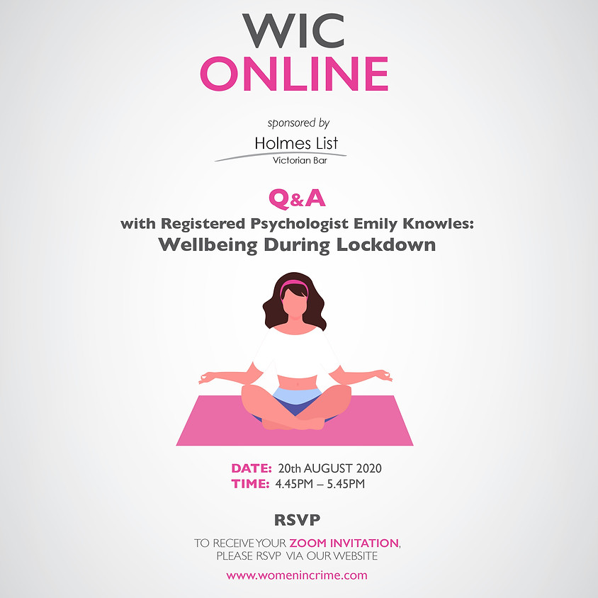WIC Online - Q&A with Registered Psychologist Emily Knowles