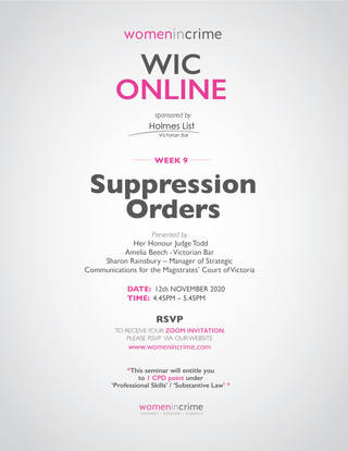 WIC - Suppression Orders