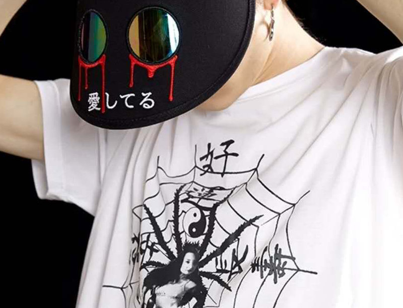 BLOODY TEARS sun visor cap