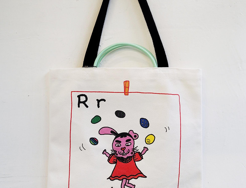 R FOR Rabbit TOTE BAG